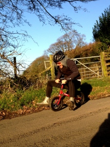 """.....and attempts to """"king"""" on the Tithe Barn Lane Dropsy segment near Scorton"""