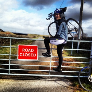 Trespassing on the council's closed road!!!